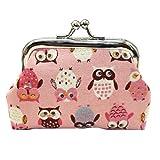 FORH Geldbeutel Frauen Geldbörse Kleine Brieftasche Clutch Geldbörse Mode Drucken kleine Haspe Portmonee Kupplungs Handtasche Clutch Bag Brieftasche (Rosa)