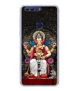 PrintVisa Designer Back Case Cover for Huawei Honor 8 (Vinayaka Cultural Culture Ganesha Deity Devotion Beautiful Elephant)