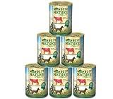 Dehner Best Nature Hundefutter Adult, Rind und Reis mit Distelöl, 6 x 400 g (2.4 kg)