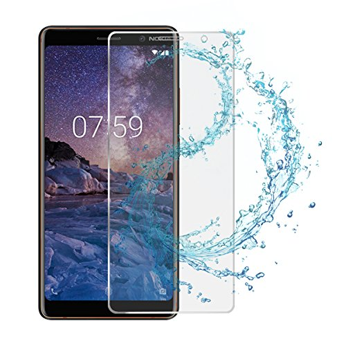adorehouse Nokia 7 Plus Screen Protector, Tempered Glass Film, Ultra-Clear Anti-Scratch Anti-Smudge Fingerprint Resistant Case Glass Screen Protector - 1 Pack