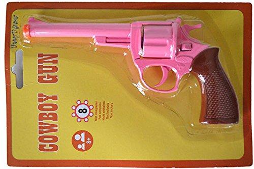 Imagen de halloweenia–juguete revolver pistola de metal cowgirlkostüm bar ladrones mafia lady disfraz de mujer, 19cm , color rosa alternativa