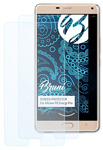 Bruni Schutzfolie für Allview P8 Energy Pro Folie, glasklare Bildschirmschutzfolie (2X)