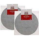 Dehner Silikongrillmatte, Gute Wahl Grillmatte 2er Set, Durchmesser 50 cm, Silikon, schwarz, 50x50x4 cm, 3003357