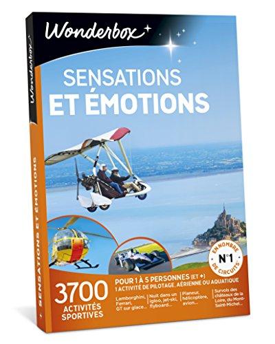 Wonderbox - Coffret cadeau Noël - SENSATIONS ET EMOTIONS - 3700 activités...