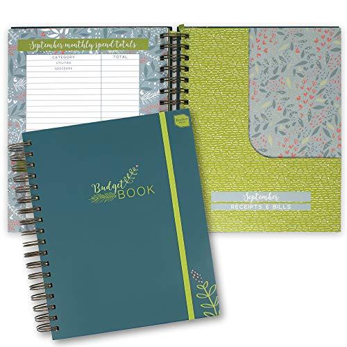 Boxclever Press Budget Book. Budget Planner. Libro de cuentas, contabilidad y caja. Cuaderno con bolsillos para gestionar finanzas personales. Planificador de ahorro doméstico. Mide 24,5 x 22,5cm