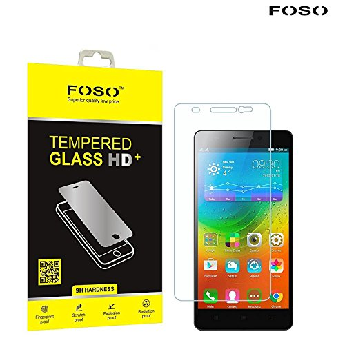 for Lenovo [A7000 / K3 Note ] [ K3 Note Turbo ] 2.5D Curved Edge FOSO(TM) 9H Hardness Toughened Tempered Glass Screen Guard Protector (99.99% Transparency), Increase resale value of your phone