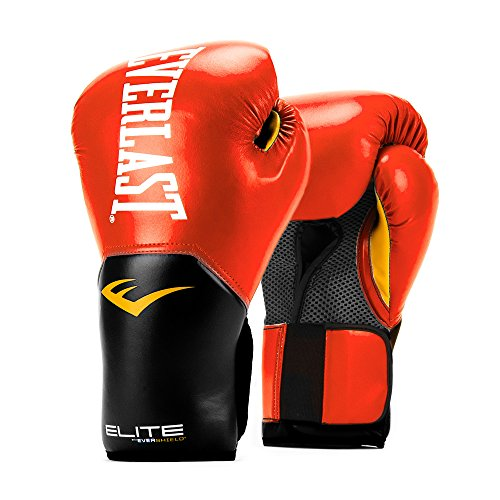 Everlast Pro Style Elite V2 Boxing Gloves, 12Oz (Red)