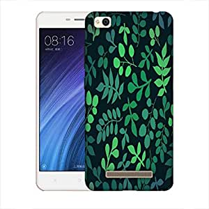 Snoogg Green Leaves Designer Protective Back Case Cover For Xiaomi Redmi 4A