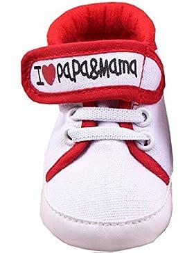 s4- Babyschuhe Neugeborene I Love Mama & Papa TG.11(0–6Monate)
