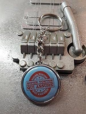 Porte clé Super Tonton Qui Assure
