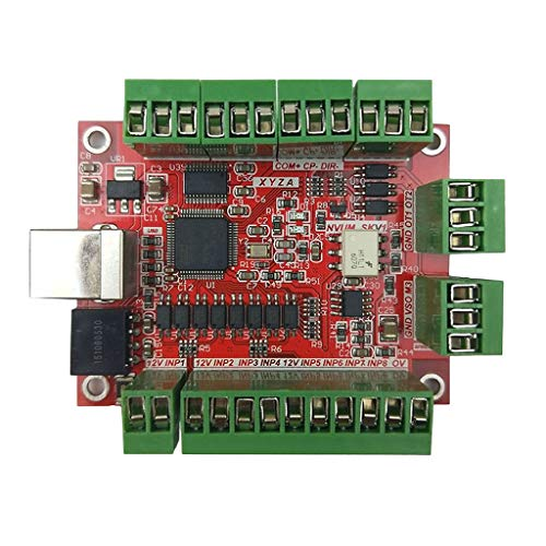 B Baosity Tarjeta De Interfaz De Controlador De Tarjeta CNC De 4 Ejes  Reemplazo Kit De Bricolaje Software MACH3