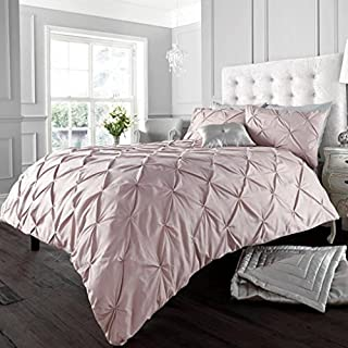 Gaveno Cavalia Signature Collection Alford Set with Duvet Cover and Pillow Case Soft, Polyester-Cotton, Pink, King