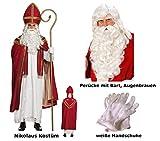 Scherzwelt St Nikolaus Kostüm von Boland mit Perücke + Bart Gr. L/XL