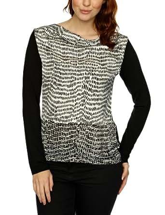 Olsen 11101081 Printed Women's T-Shirt Black Size 14