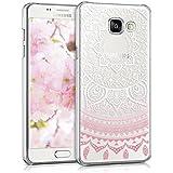 kwmobile Crystal Case Hülle für > Samsung Galaxy A5 (Version 2016) < mit Indische Sonne Design - transparente Schutzhülle Cover klar in Rosa Weiß Transparent