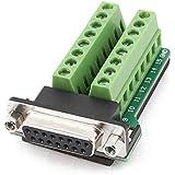 DB15 hembra Adaptador - SODIAL(R)DB15 VGA D-SUB VGA 15pines hembra Adaptador Terminal de toma PCB Tablero de desbloqueo