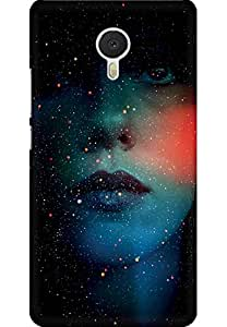 AMEZ designer printed 3d premium high quality back case cover for Meizu M3 Note (abstract girl)