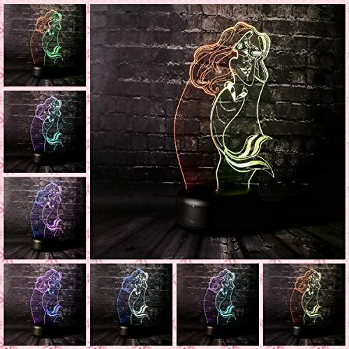 Illusion Lampe Nachtlicht 3D optische Täuschung Lampe Led Usb Für Kinder Baby Mädchen Prinzessin Anna Meerjungfrau Schlaf Licht Junge Geschenk Cartoon Kind Spielzeug Basis Licht (Star Baby-raum Wars)