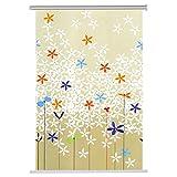 ZEMIN Bambusrollo Jalousette Rolltor Schattierung Vorhang Innen/Außen installieren Fenster Sonnen Bildschirm Muster Balkon Handhebend, 3 Farben verfügbar, Polyester (Farbe : C, Größe : 100x200CM)