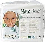 Naty by Nature Babycare, 108 Pannolini Ecologici, Taglia 4 (7-18 kg), 4 confezioni da 27
