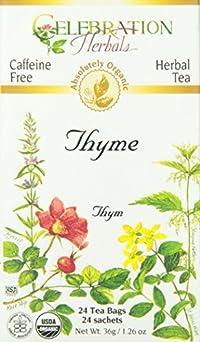 Celebration Herbals Organic Thyme Tea Caffeine Free -- 24 Herbal Tea Bags