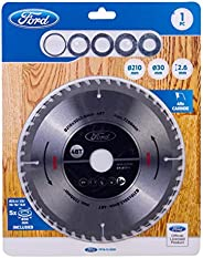 Ford Tools 48T Carbide-Tipped Circular Saw Blade For Wood Cutting, 210 x 30 x 2.6mm, FPTA-12-0001
