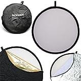 Neewer® 5 in 1 Faltreflektoren Set Reflektor (110CM Ø) Gold, Silber, Weiß, Schwarz und transparent für Studio und Foto Diffusor - 2