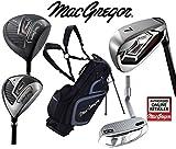 MacGregor Antwort Deluxe Herren Stahl Golf Set & TP12018schwarz/charcoal Stand Bag Herren Rechte Hand