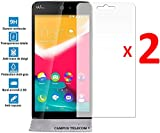2 Films Protecteurs en VERRE Trempé pour WIKO Rainbow JAM 3G 4G Vitre protection anti brise, anti-rayure by Campus Telecom®