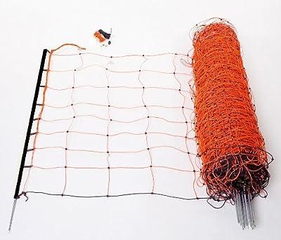 Schafnetz Schafzaun 90cm hoch, 50m lang, inkl. 14 Stäbe mit Metallspitze auch für größere Hunde geeignet! von Landkaufhaus Mayer auf Du und dein Garten