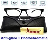 Anemone Premium Anti-glare Photochromatic Zero power sunglasses for Protection from Computer Digital Screens