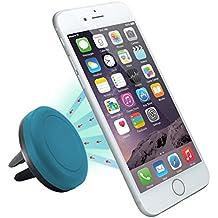 Superideal Air magnético Soporte de Télefono para Coche de Smartphone para iPhone 6 / 6 Plus / 5 / 5S / 5C / 4 / 4S, Samsung Galaxy S6 / S5 / S4 / Note 4/3, Google Nexus, LG G3 y dispositivo GPS (Azul)