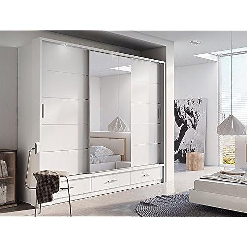 sliding door bedroom furniture. Brand New Modern Bedroom Mirror Sliding Door Wardrobe Arti 1 In Matt White 250cm Sold By Arthauss Furniture O