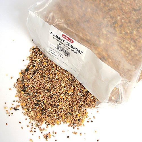 Zolux. Graines pour Oiseaux Sauvages kg. 12 Aliment pour Oiseaux, Multicolore, Unique