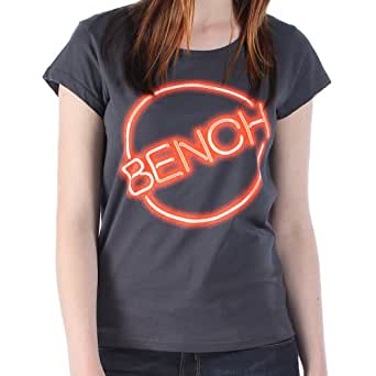 Bench Damen Sport T-Shirt T-Shirt Uvforty grau (Charcoal) X-Large