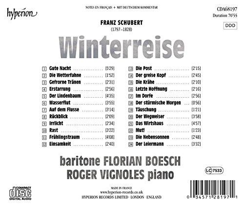 Schubert : Winterreise. Boesch, Vignoles.