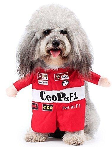 nge Mädchen Hund mit unechte Arme Halloween Karneval Hund Turnier Kostüm Kleid Kostüm Outfit S-XL - Racer, Medium (Racer Mädchen Halloween Kostüme)