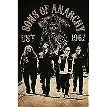 Póster Sons of Anarchy/Hijos de la Anarquía Reaper Crew/Pandilla El Segador (61cm x 91,5cm) + embalaje para regalo