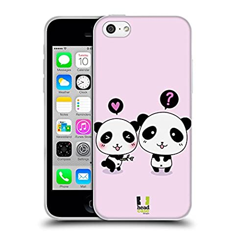 Head Case Designs Act of Giving Kawaii Panda Soft Gel Back Case Cover for Apple iPhone 5c