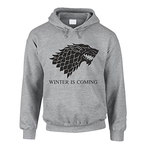 Hoodie Game of Thrones Winter is coming Kapuzenpullover Schattenwolf, grau-schwarz, M