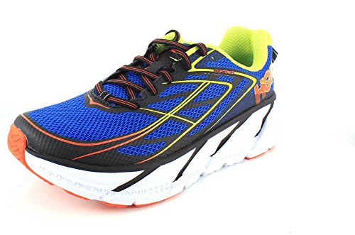 Hoka One One Clifton 3 Blue Red Orange Bleu