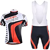 Veobike Men's Cycling Jersey Bicycle Short Sleeve Jersey Jacket Comfortable Breathable Shirts Tops 3D Cushion Padded Riding Bib shorts Tights Pants Sportswear Breathable Quick Dry Riding Clothes Pants