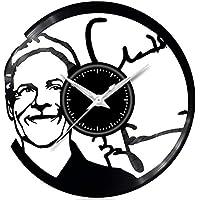 Fusorario Orologio in Vinile da Parete LP 33 Giri Silenzioso Idea Regalo A Tema Baglioni Claudio