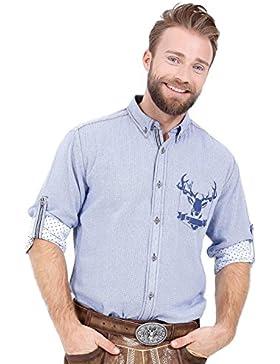 Michaelax-Fashion-Trade Krüger - Herren Trachtenhemd in Blau Kariert, Erik (95105-8)