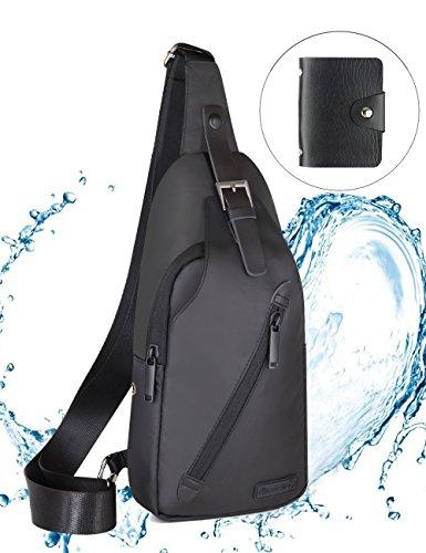 LEICESTERCN Sling Bag Herren,Brusttasche Schultertasche Mini Crossbody Reisen Wandern Camping Umhängetasche Sporttasche für Herren Damen -MEHRWEG - Psp Herren