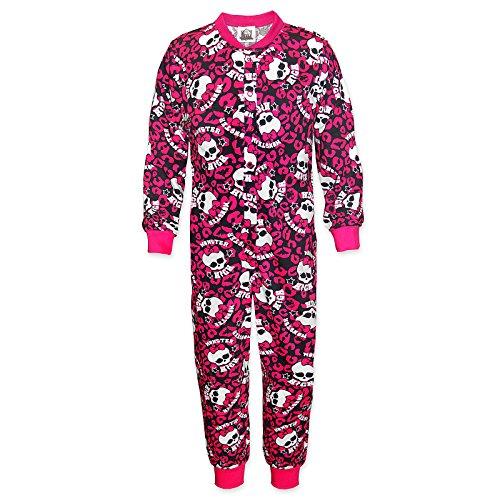 Mattel Monster High - Mädchen Schlafanzug-Overall - Offizielles Merchandise - Geschenk - Pink - 5-6 (Monster High Blue)