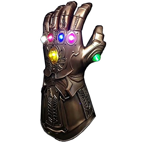 CYCG Marvel Avengers Infinity War Gauntlet Thanos Glove con 6 LED Brillante Gemas