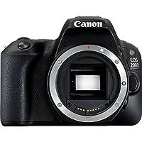 Canon EOS 200D + 18-55 DC III + 100EG + SD 16GB SLR Camera Kit 24.2MP CMOS 6000 x 4000pixels Black - Digital Cameras (24.2 MP, 6000 x 4000 pixels, CMOS, Full HD, Touchscreen, Black)