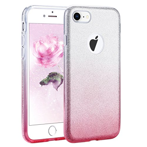 XMTIKO iPhone 7 Plus iPhone 8 Plus Hülle, Bling Case Glitter Sparkle Glänzende Gradient Hülle Drei Layer Schutz aus Soft TPU + Hard PC super Dünnfür Apple5.5 Zoll iPhone 7 (Halloween Super Mädchen Sieben)