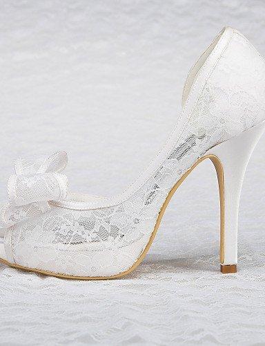 Kleid Weiß Sandalen Hochzeitsschuhe 3in Hochzeit Damen Schuh Absätze Shangyi amp; Party Festivität Plateau PH0xfqnB